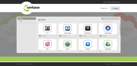 Centage - VMware Workspace Portal All Apps
