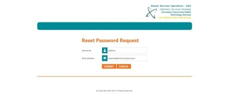Champlain CCAC - MS RDWEB 2012 R2 Reset Password Request