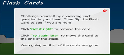 Flash Cards – Answer each question the flip Flash card to see if you are right.