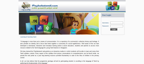 Elearning site using Moodle and Flash