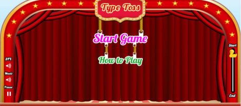 Type Toss – It is a keyboard typing game where the user can get trained as well as tested for his typing skills.