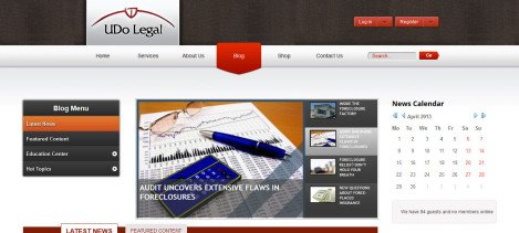 Law Firm website with Shopping Cart – Joomla with Aceshop (opencart)