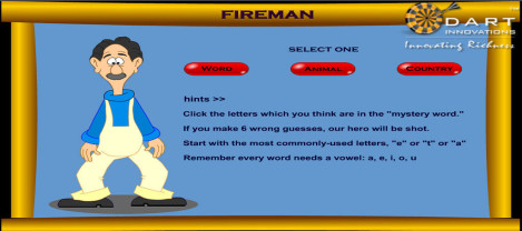 Fireman – It is a mystery word identifier game