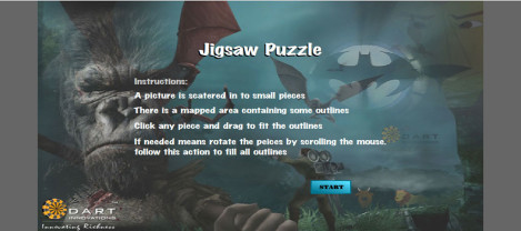Jigsaw Puzzle – An image is scattered in to small pieces which needs to be aligned in to original image