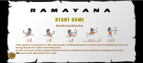 Ramayanam – A game where Lord Rama character needs to get back his wife by getting the required weapons