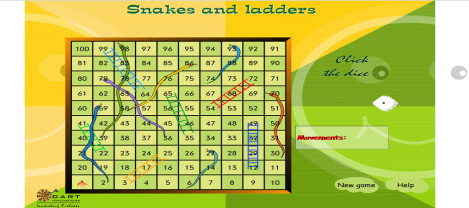 Snakes and Ladders – a traditional game that is played using dice