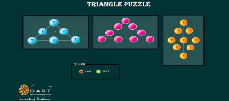 Triangle Puzzle – It's a puzzle game where we need to align the numbers in triangular order.