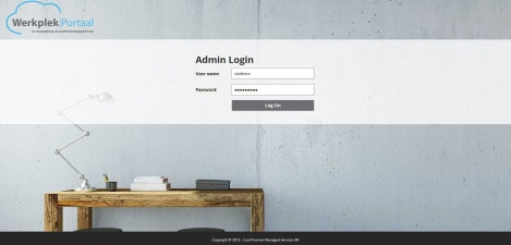 ComPromise - Interface Admin Login