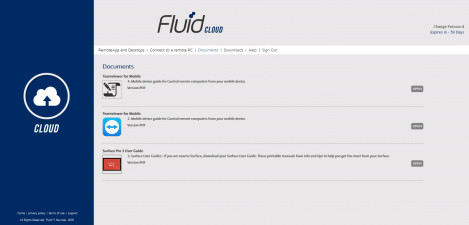 Fluid IT – RD Web Access Documents Page