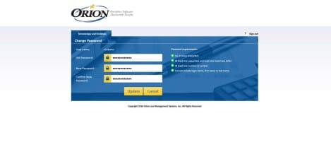 Orion Law - MS RD Web Access Change Password