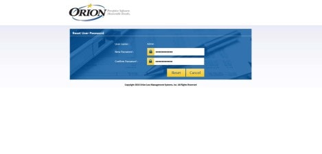 Orion Law - MS RDWEB Reset User Password