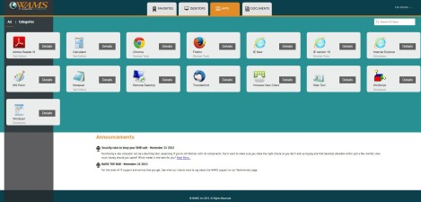 WAMS Inc – Citrix StoreFront 3.0 Apps Page