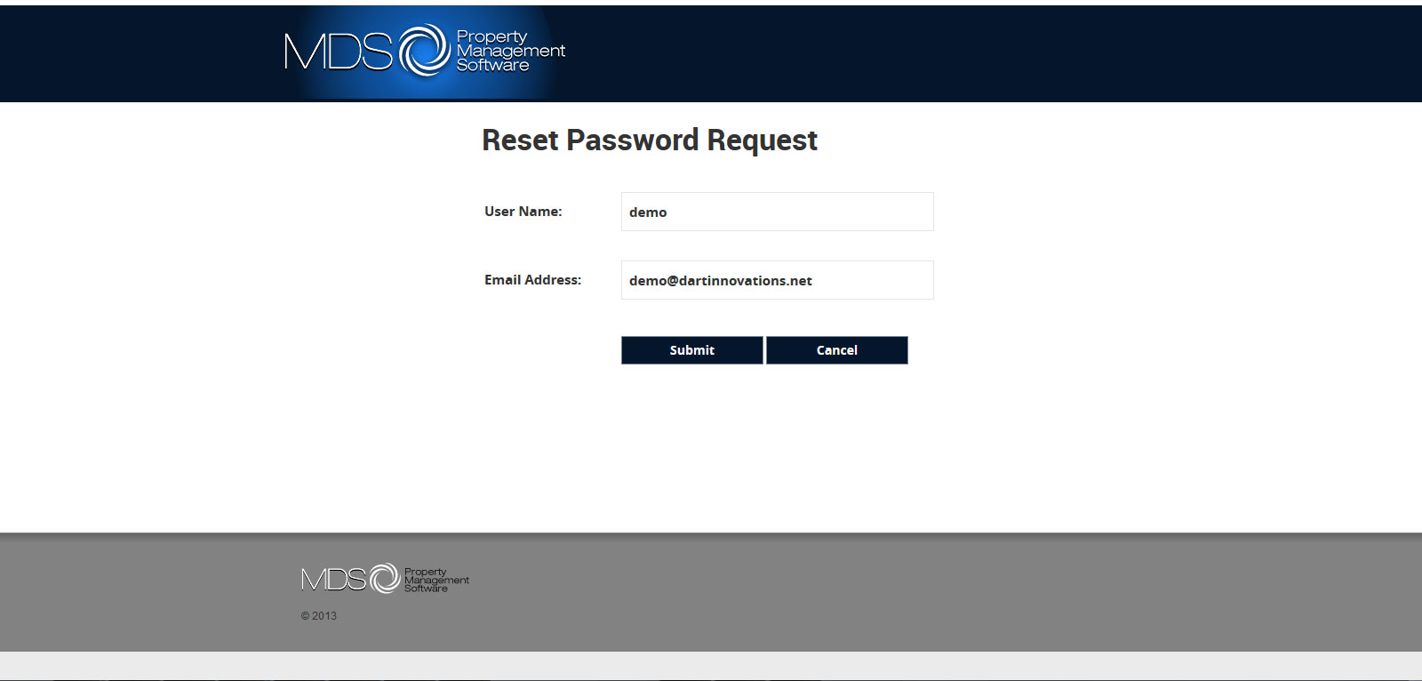 MDS - MS RDWEB 2012 R2 Reset Password Request