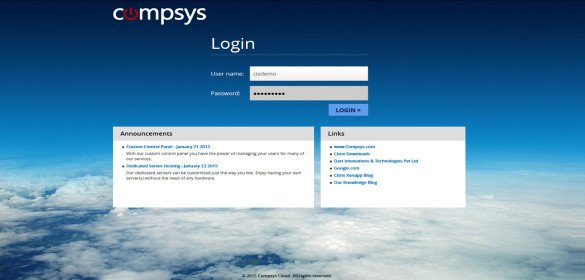 Compsys – Citrix StoreFront 2.6 Login Page