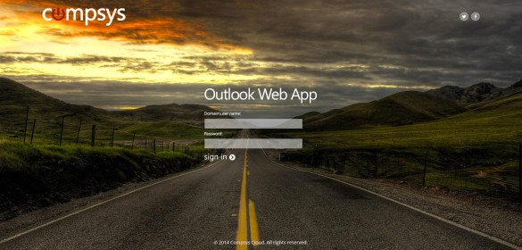 Compsys Cloud – MS Outlook Web App Login Page