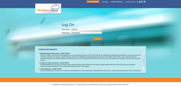 ComputerSupport – Citrix StoreFront 3.0 Login Page