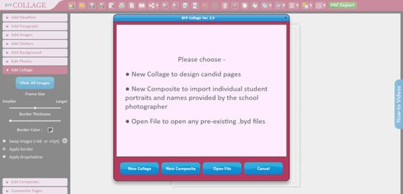 BYP Collage – Adobe Flex based online Year Book publishing