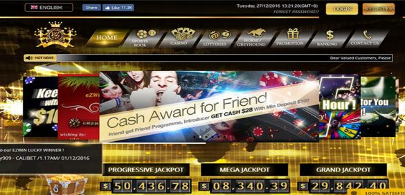 EZwin – WordPress casino website