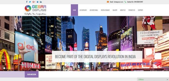 Gesar Displays – WordPress LED displays website