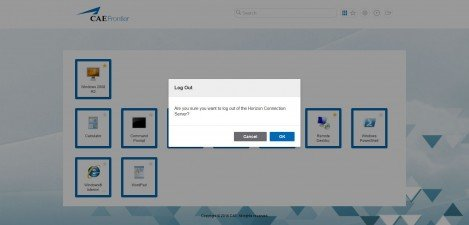 CAE Frontier – VMware Horizon View 7.1.0 Log out