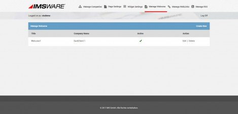 IMSWARE - Interface Admin Manage Welcome