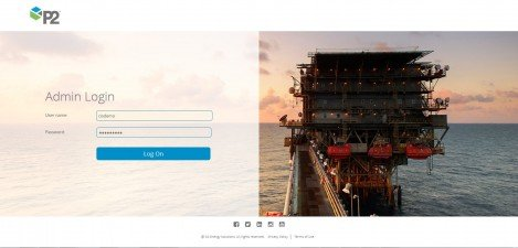 P2 Energy Solutions - Interface Admin Login