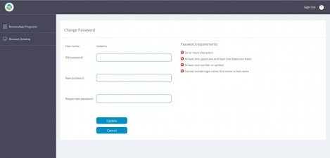 P2 Energy Solutions - RD Web Access 2012 Change Password